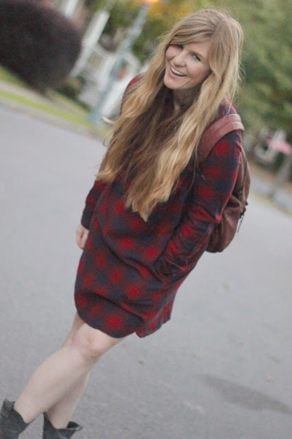 How I Wore My Heels: The Plaid Shirtdress