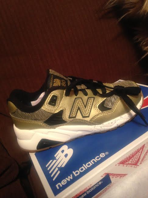 New Balance gold kids sneakers