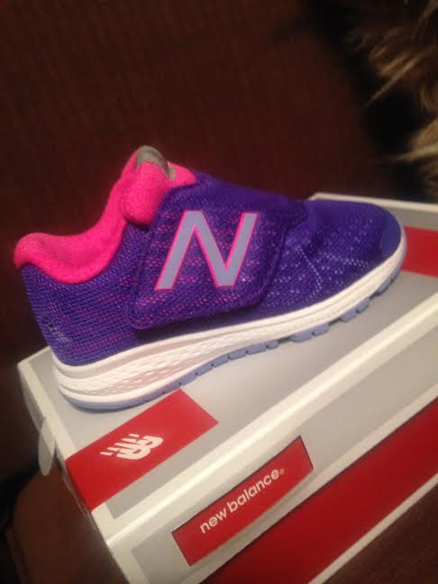 New balance purple sneakers