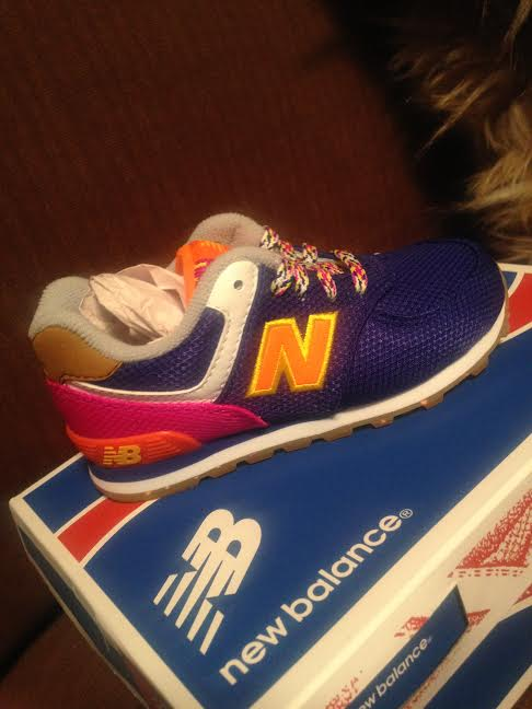 Multi-colored New Balance kids sneakers