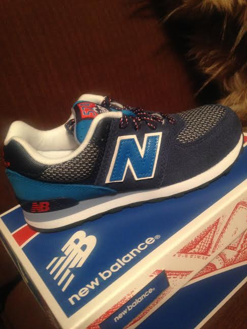 New Balance blue kids sneakers