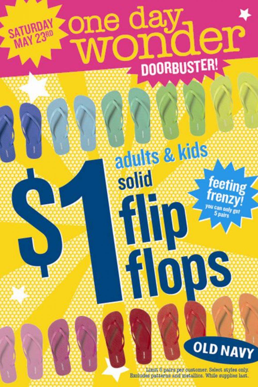 Flip-Flops for $1?? Enough Said.