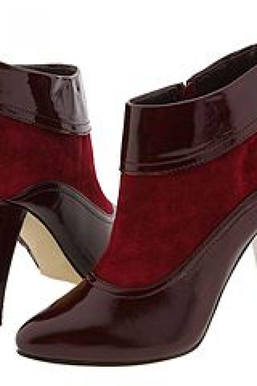Red High-Heel Booties