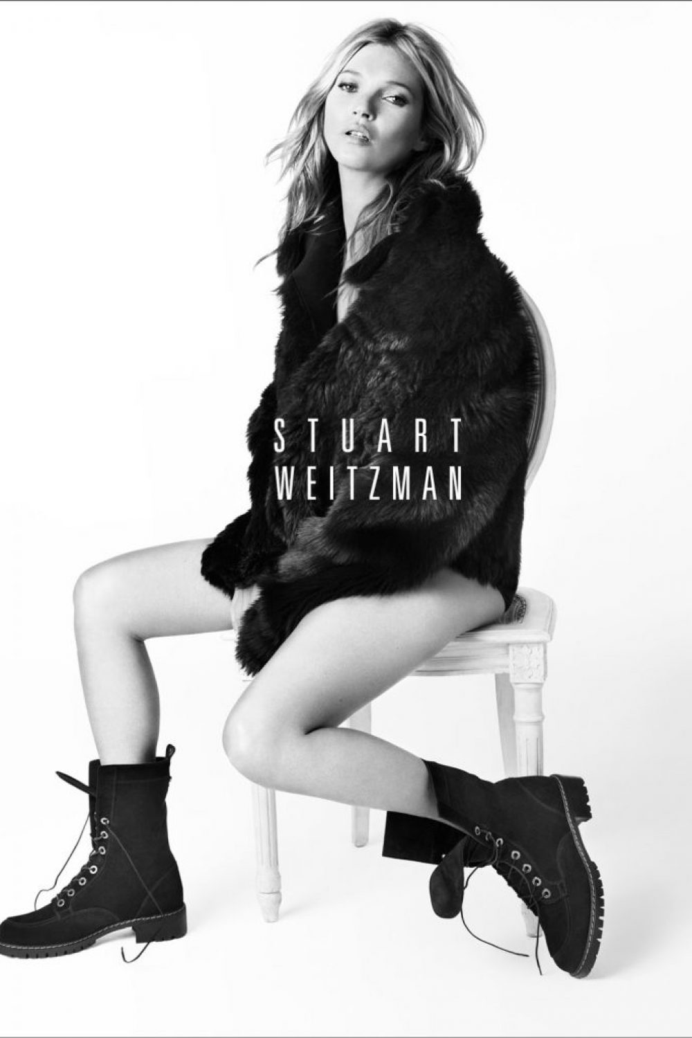 Kate Moss Models Again for Stuart Weitzman Fall Ads
