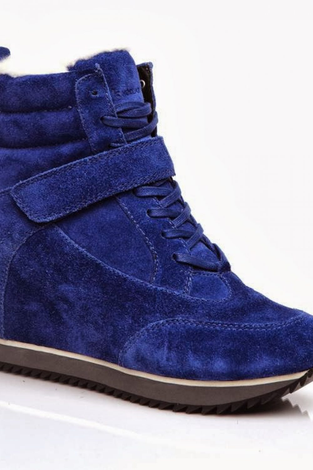 Shearling Sneaker Wedges…Squeal!