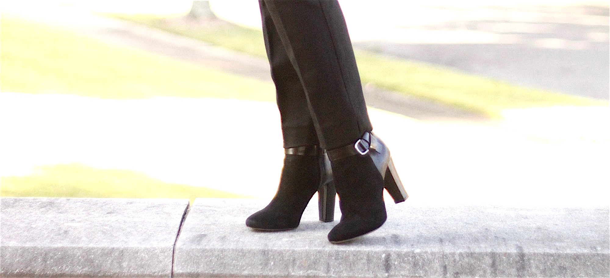 Black ankle booties from White House Black Market
