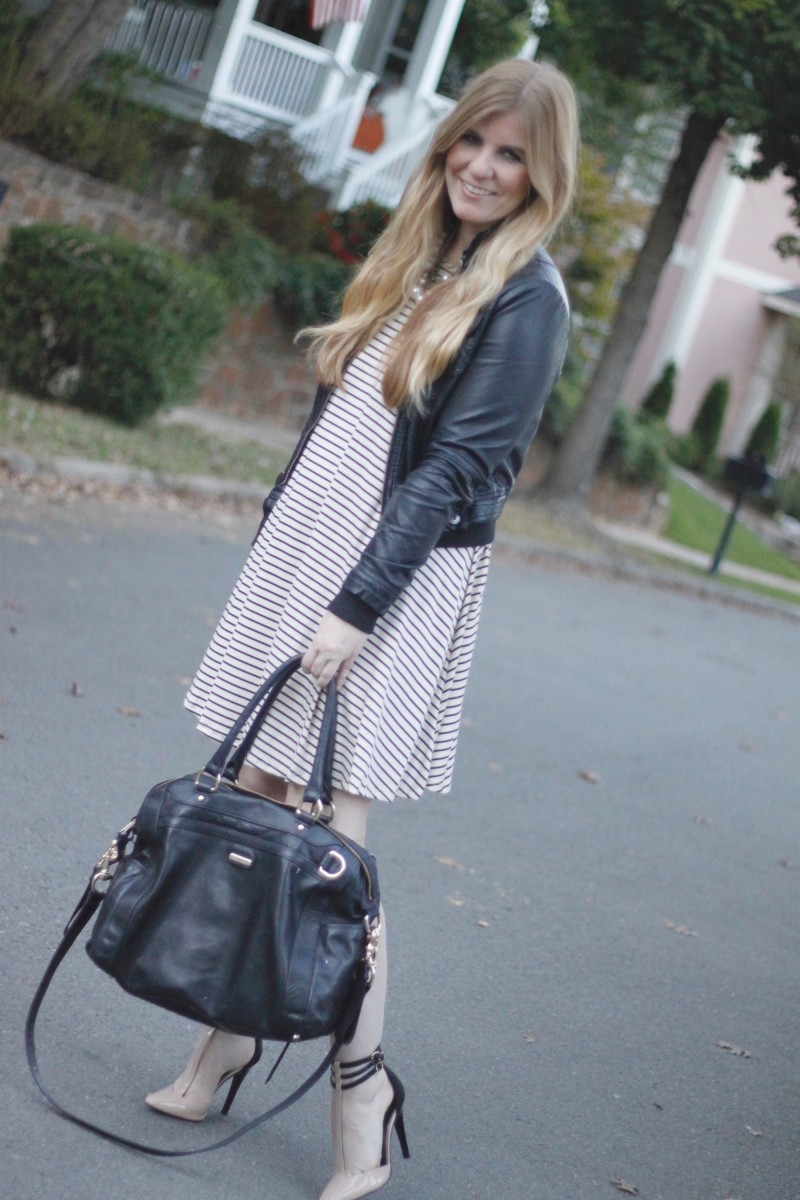gb-striped-dress-moto-jacket-rachel-zoe-heels-1