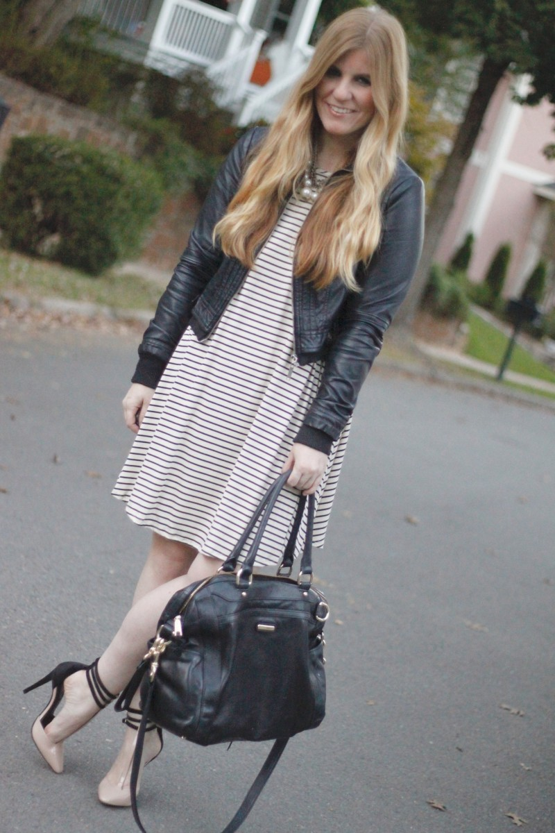 gb-striped-dress-moto-jacket-rachel-zoe-heels-2