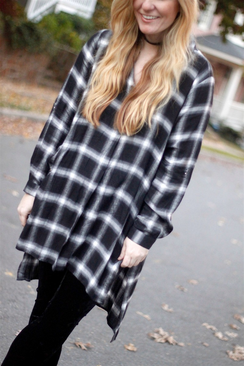 gianni-bini-plaid-tunic-1