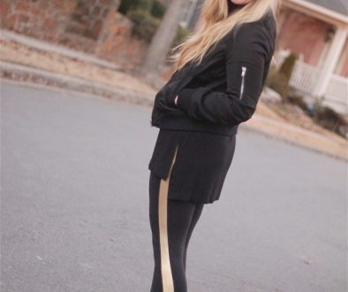 A New Year in Gold-Striped Workout Pants
