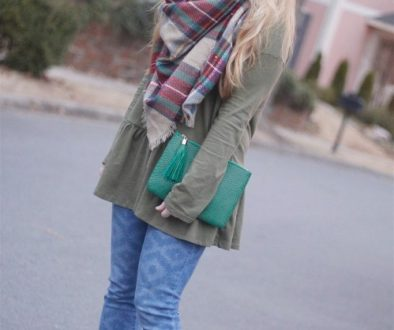 How I Wore My Heels: Plaid Blanket Scarf