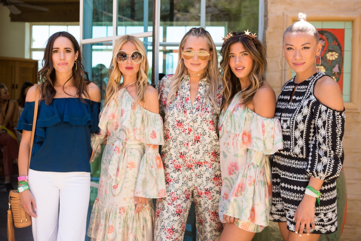 Louise Roe with Rachel Zoe and friends at Coachella ZOEasis