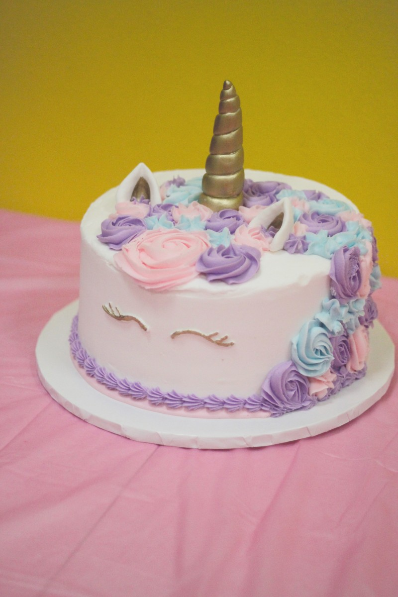 Pigtails Crewcuts Princess Party Unicorn Cake