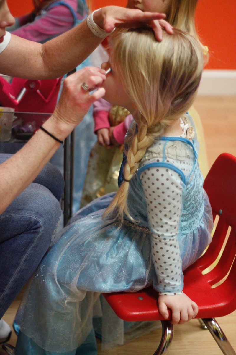 pigtails crewcuts princess party makeup braid